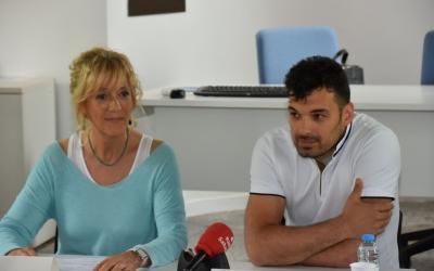 Fruitós i Valverde presentant la III edició de Sabadell corre pels nens | Crispulo Díaz