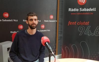 Esteve Lombarte als estudis del Ràdio Sabadell | Raquel García