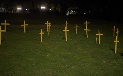 Creus plantades pel CDR Sabadell al Parc Catalunya | Roger Benet
