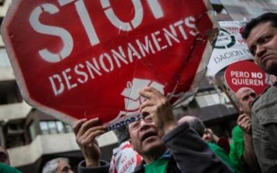 Imatge de recurs d'una protesta contra els desnonaments | Arxiu