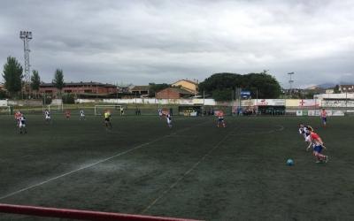 L'equip arlequinat es va veure superat pel Cardedeu des del minut 1 de partit | Esteve Calzada
