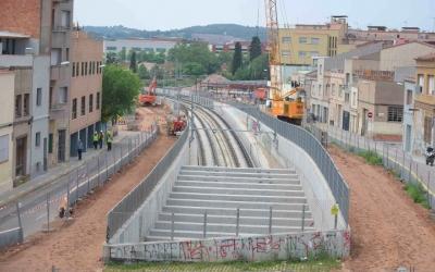 Obres del soterrament de l'estació Can Feu-Gràcia | Roger Benet