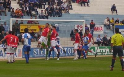 Imatge d'un Sabadell-Osasuna Promesas. La Nova Creu Alta ja ha rebut en múltiples ocasions a rivals de Navarra i La Rioja a Segona B | Arxiu RS