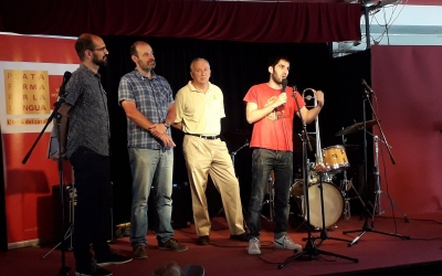 Serrcant, Escuder, Pegueroles i Duran a l'escenari de l'Espai Àgora | Òmnium Sabadell