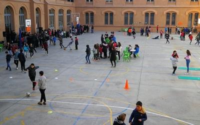El pati de l'Escola Pia serà el protagonista de la Diada del club