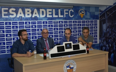 Pau Vituri, Xavi Andreu, Miguel Ángel Rodríguez i Gonzalo Álvarez presenten la Comissió | Crispulo D.