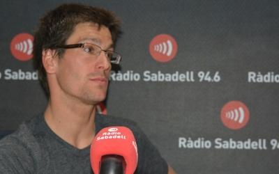 Miquel Blanchart en una visita a Ràdio Sabadell
