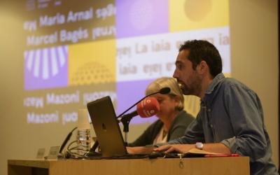 Arnau Solsona i Montserrat Chachón durant la presentació   Roger Benet