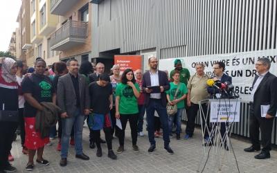 Roda de premsa per anunciar els contractes | Pere Gallifa