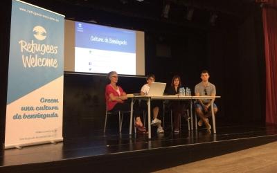 La presentació del projecte Refugees Welcome es va fer ahir a Cal Balsach/ Cedida