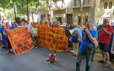Manifestació davant l'Agència de l'Habitatge de Catalunya | Pere Gallifa