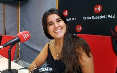 Bego Delgado Marí aquest matí als estudis de Ràdio Sabadell