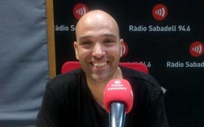 Joan Berlanga aquest matí als estudis de Ràdio Sabadell