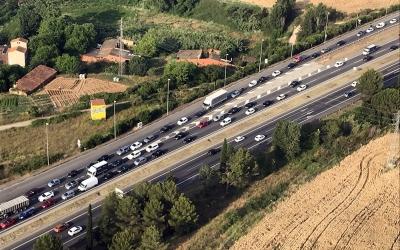 Vista aèria de la C-58/ Departament de Territori de la Generalitat