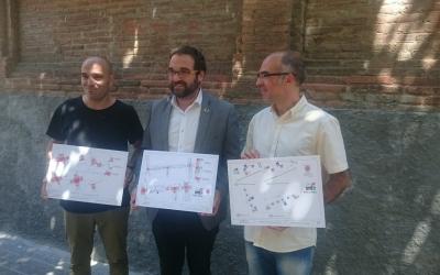 Berlanga, Fernàndez i Guerrero presentant el pla | Ajuntament de Sabadell
