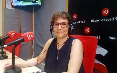 Eulàlia Barros aquest matí als estudis de Ràdio Sabadell