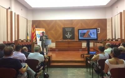 El regidor d'acció social Gabriel Fernández a la presentació de l'informe de tendència social de Sabadell | Helena Molist