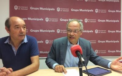 Josep Beltran i Carles Rossinyol a la roda de premsa | Helena Molist