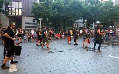 L'Obrera ha fet una demostració d'activitats a la plaça Sant Roc/ Karen Madrid