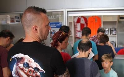 Imatge habitual de les oficines de la NCA aquests primers dies de campanya