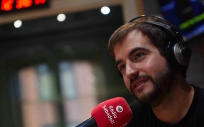 Ricard Ustrell, en una entrevista a Ràdio Sabadell/ Roger Benet