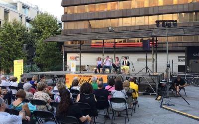 Alsina, Barberà i Montesinos durant l'acte | Ràdio Sabadell