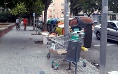 Estat d'un dels carrers d'Esrponceda/ Associació de Veïns d'Espronceda