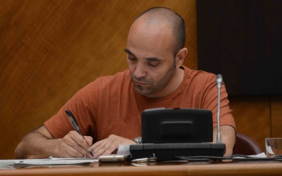 Joan Berlanga va dimitir ahir com a portaveu del govern/ Arxiu Ràdio Sabadell
