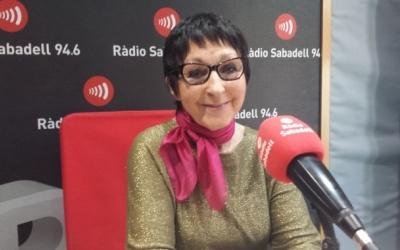Mirna Lacambra als estudis de Ràdio Sabadell | Arxiu