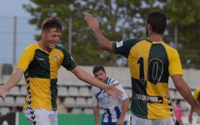 Edgar Hernández celebra el segon gol del partit | Roger Benet