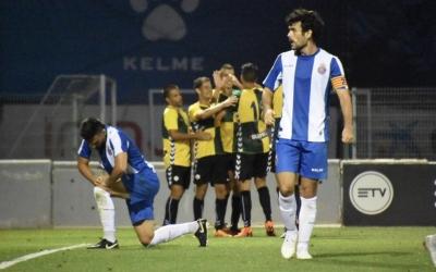 Celebració arlequinada després del gol del triomf del Sabadell a la Dani Jarque | Críspulo Díaz