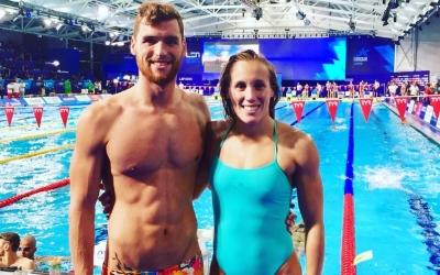 Marc Sánchez i Marina Garcina a la piscina Tollcross de Glasgow | CNS
