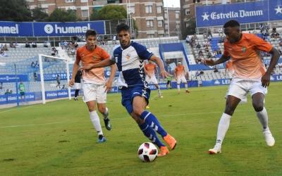 Néstor Querol, autor del primer gol oficial del Sabadell aquesta temporada | Crispulo D.