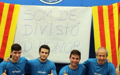 L'equip del CNS tennis taula que l'any que ve jugarà a Divisió d'Honor | @CNStennistaula