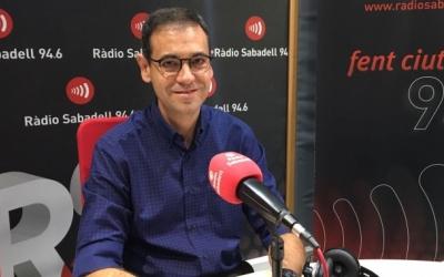 Giménez, als estudis de Ràdio Sabadell | Arxiu
