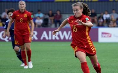 Candela Andújar autora de l'únic gol espanyol de la final