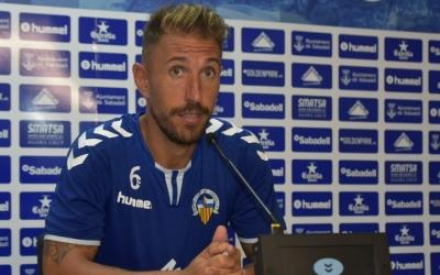 Àngel Martínez, segon capità del CE Sabadell, en roda de premsa | Crispulo D.