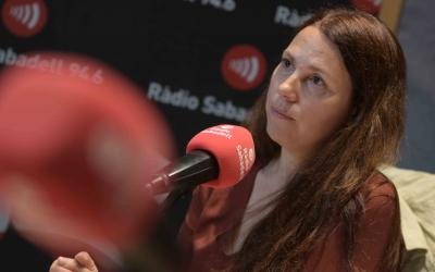 Eva Abellán als estudis de Ràdio Sabadell   Roger Benet