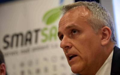 Eugenio Díaz durant una roda de premsa d'Smatsa   Roger Benet