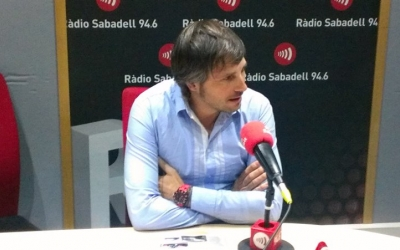 Sergi Giralt als estudis de Ràdio Sabadell | Arxiu RS