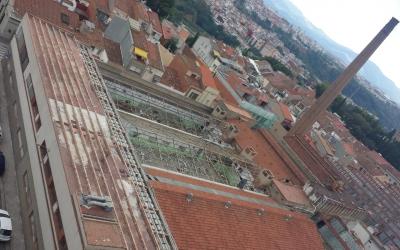 Aquest és l'aspecte actual del sostre de l'Artèxtil a dia d'avui | Pau Duran