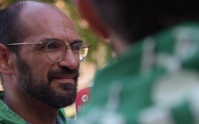 Maties Serracant durant l'entrevista realitzada per Pere Gallifa | Roger Benet