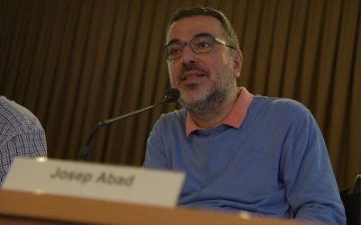 Josep Abad durant la seva compareixença a les jornades Nomenclàtor | Roger Benet