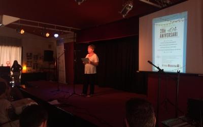 La presidenta de l'SCAI, Rita Haybens en la presentació de l'acte | Helena Molist