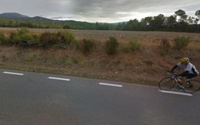Imatge d'un ciclista a la carretera de Matadepera | Roger Benet