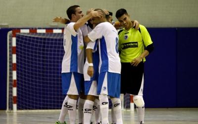 Els jugadors del Club celebren un dels gols aconseguits a la primera jornada de lliga | Pau Vituri