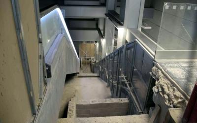 Imatge de l'espai reservat per a les escales mecàniques a Sabadell Plaça Major | Roger Benet