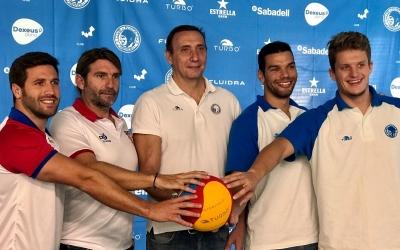 Aguilar, Cobacho, Gómez, Matoso i Cabanas, a la presentació d'avui | Pau Vituri