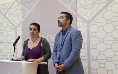 Glòria Rubio i Gabriel Fernández han donat a conèixer avui la decisió del BBVA/ Karen Madrid