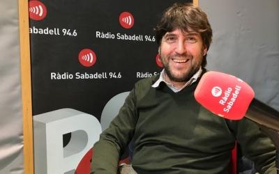 Balaguer, en una imatge d'arxiu a Ràdio Sabadell | Adrián Arroyo